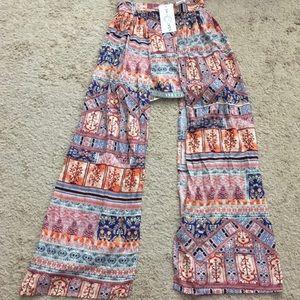 NWT LF Boho Skirt Small Three Days Mixed Print